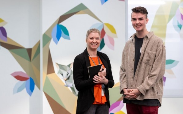 Will pictured with our Community Engagement Coordinator Alana Macallister