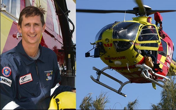 Old Boy Andrew McNeilly (1987) is with the Westpac Lifesaver Rescue Helicopter Service (WLRHS).
