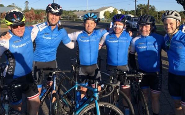 Six Old Boys join bike ride with Mater Smiling for Smiddy