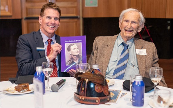Our oldest Old Boy Charles Tompson (1941) at the 2021 Vintage Vikings Lunch.