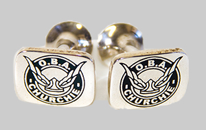 OBA Sterling Silver Cufflinks