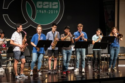 Gallery - Angelaschule Osnabrück Big Band visits GSIS
