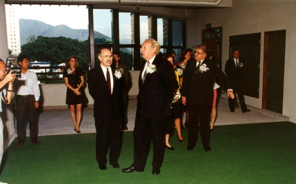 Sir David Ford with then GSIS Principal, Mr. Schierschke