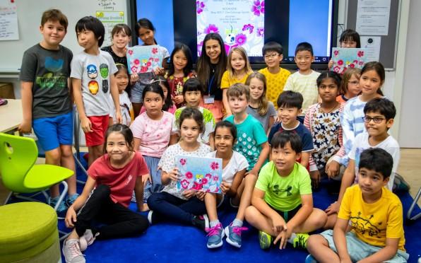 Riya with our Y04C students