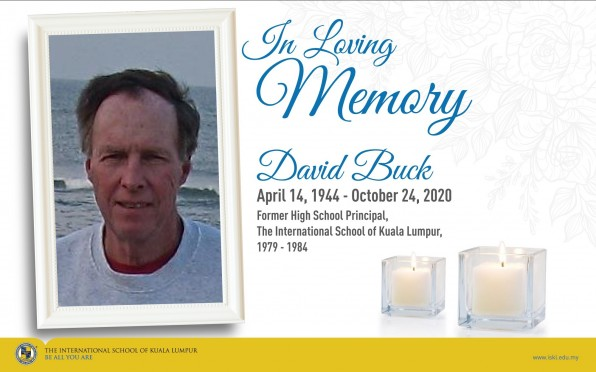 David Buck, ISKL High School Principal from 1979-1984