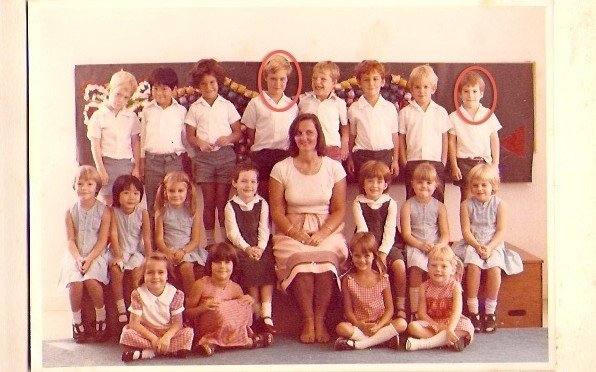 1978 Class photo with Mrs Steer: Ben in circled in the middle