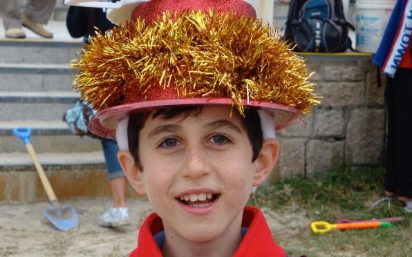 Benji at a Kellett beach party