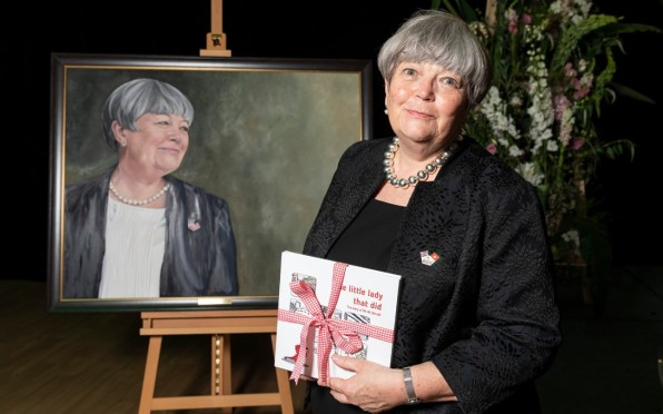 Ann with her copy of The Little Lady that Did
