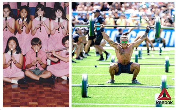 It's been 20 years! Ant in the 1998/99 school band compared to the 2019 CrossFit Games!