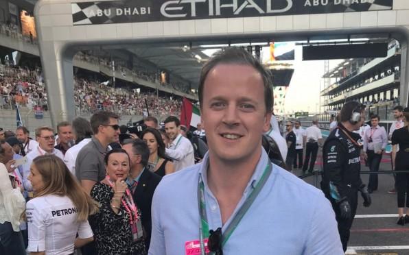 Adam at the F1 Grand Prix in Abu Dhabi