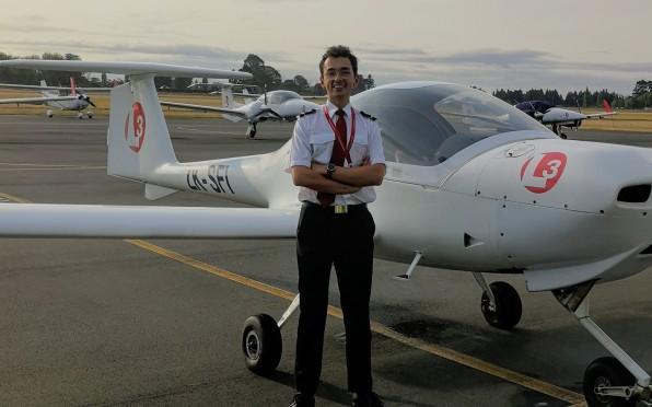 Jonas Joubert takes to the skies