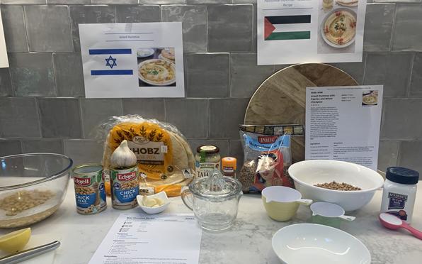 Year 9 Religion students test their skills making hummus