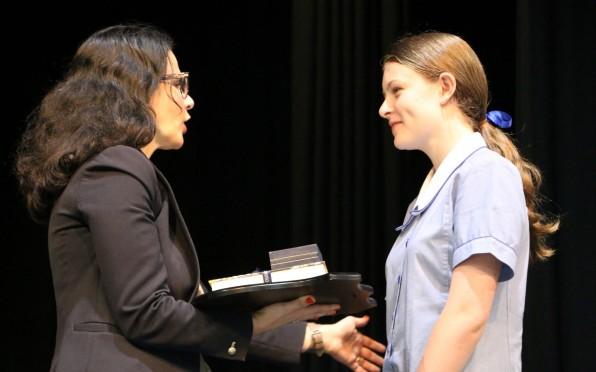 2020 recipient of the Johanna Roach Memorial Shield, Sairsha in Year 8