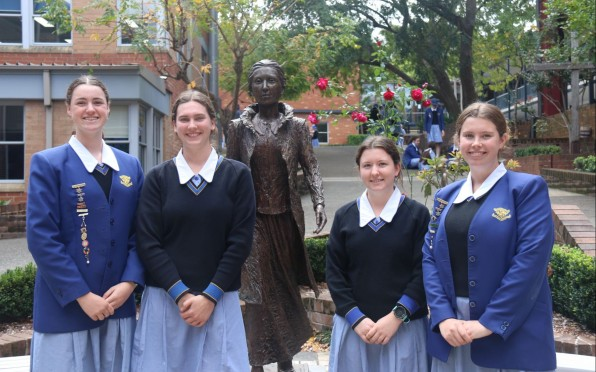 Lilly, Grace, Annabelle and Sophia - School and Boarding Captains 2020-2021