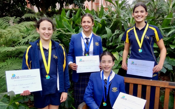 Ashley, Jessica, Sophia and Sofia achieve great results in ACSA exam for Speech and Drama